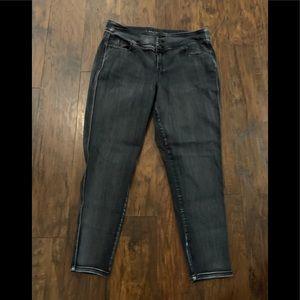 Lane Bryant Black Super Stretch Skinny Jeans